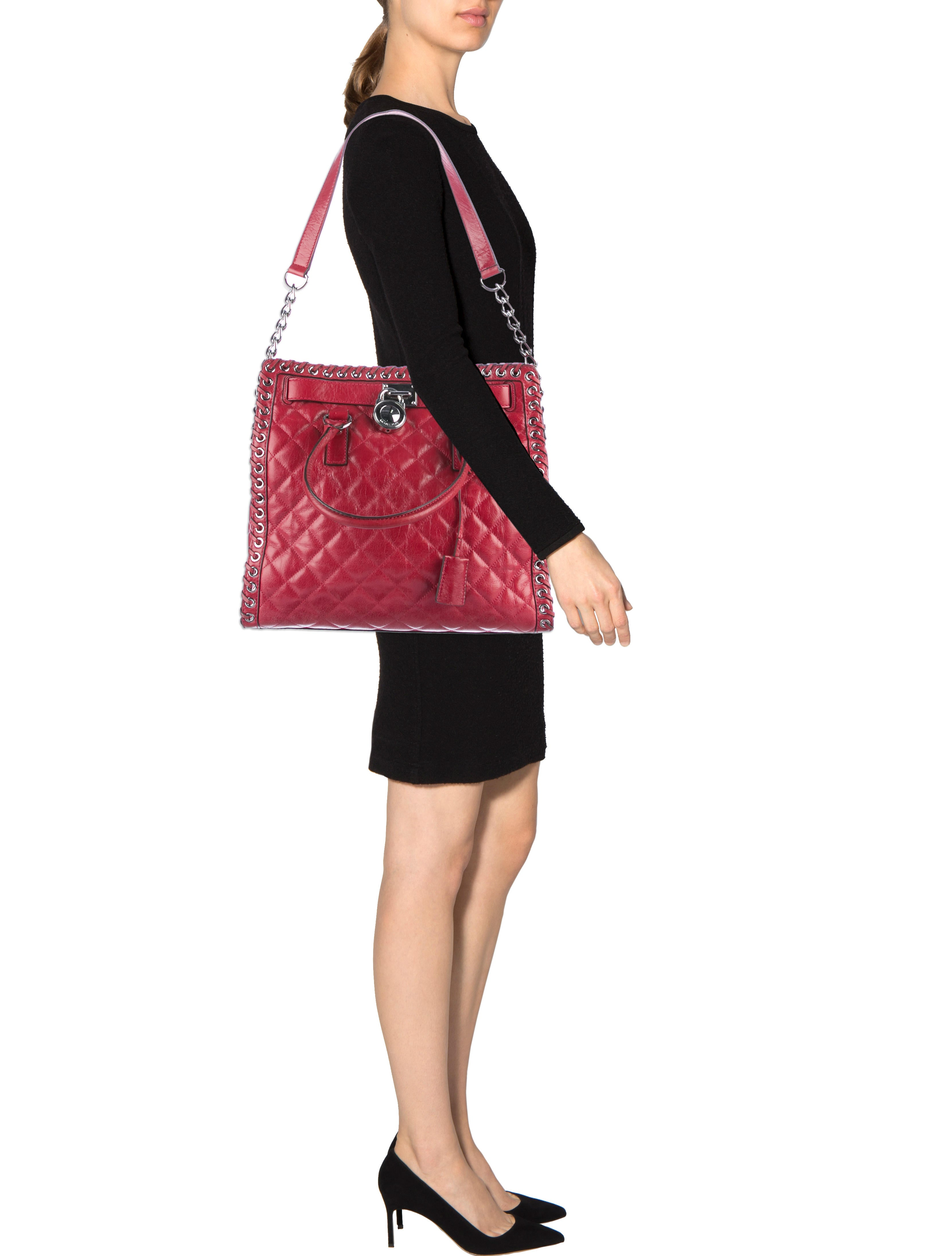 Michael Michael Kors Large Quilted Hamilton Tote  : WM5220222enlarged from www.therealreal.com size 3316 x 4376 jpeg 423kB