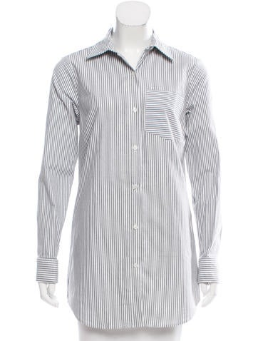 Michael Michael Kors Striped Button-Up Top w/ Tags None