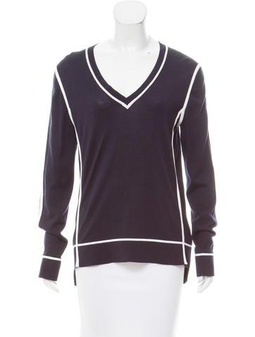 Michael Michael Kors V-Neck Rib Knit Sweater None