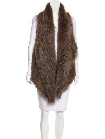 Michael Michael Kors Fur Open Front Vest w/ Tags None