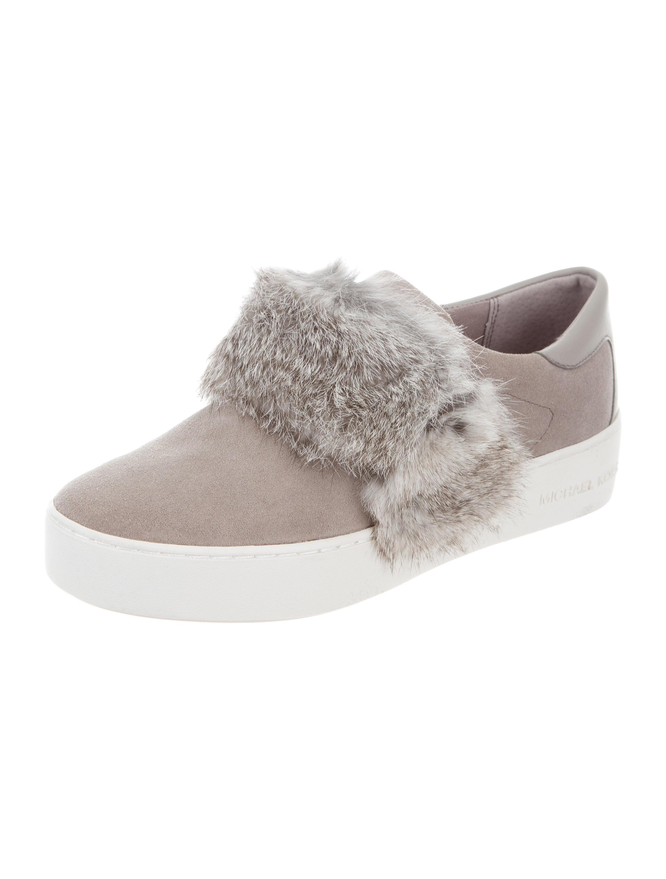 Michael Michael Kors Fur-Trimmed Slip-On Sneakers - Shoes ...