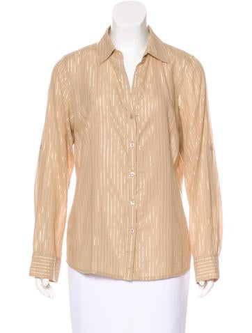Michael Michael Kors Striped Button-Up Top None