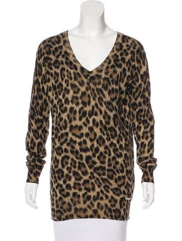 Michael Michael Kors Cheetah Print Sweater None