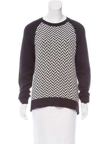 Michael Michael Kors Chevron Knit Sweater None