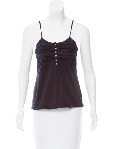 Michael Michael Kors Lace-Accented Sleeveless Top None