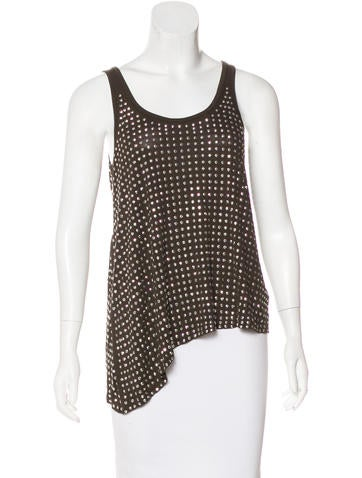 Michael Michael Kors Sleeveless Embellished Top None
