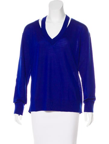 Michael Michael Kors Wool Cutout-Accented Sweater None