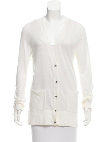 Michael Michael Kors Linen Button-Up Cardigan None