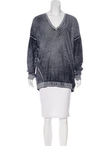 Michael Michael Kors Distressed Knit Sweater None