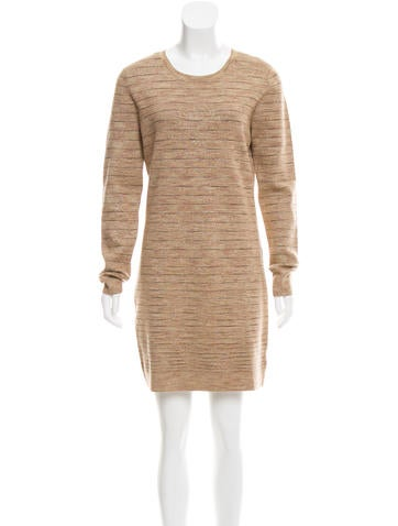 Michael Michael Kors Metallic Knit Sweater Dress None