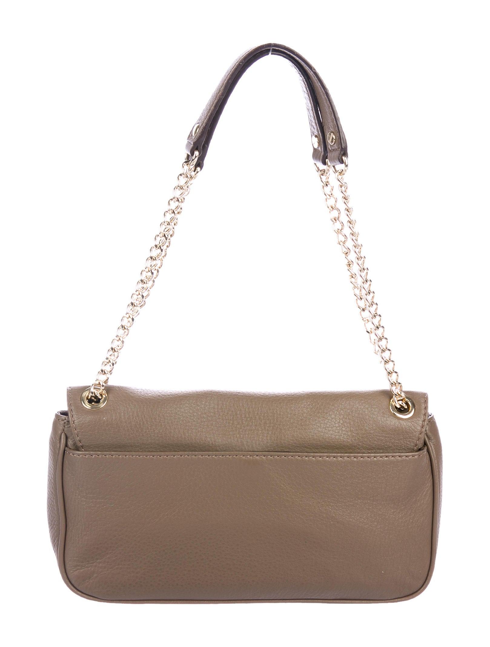 09a25f2c14 Michael Michael Kors Logo Flap Leather Shoulder Bag - Handbags ...