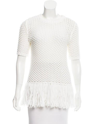 Michael Michael Kors Crochet Fringe Top None