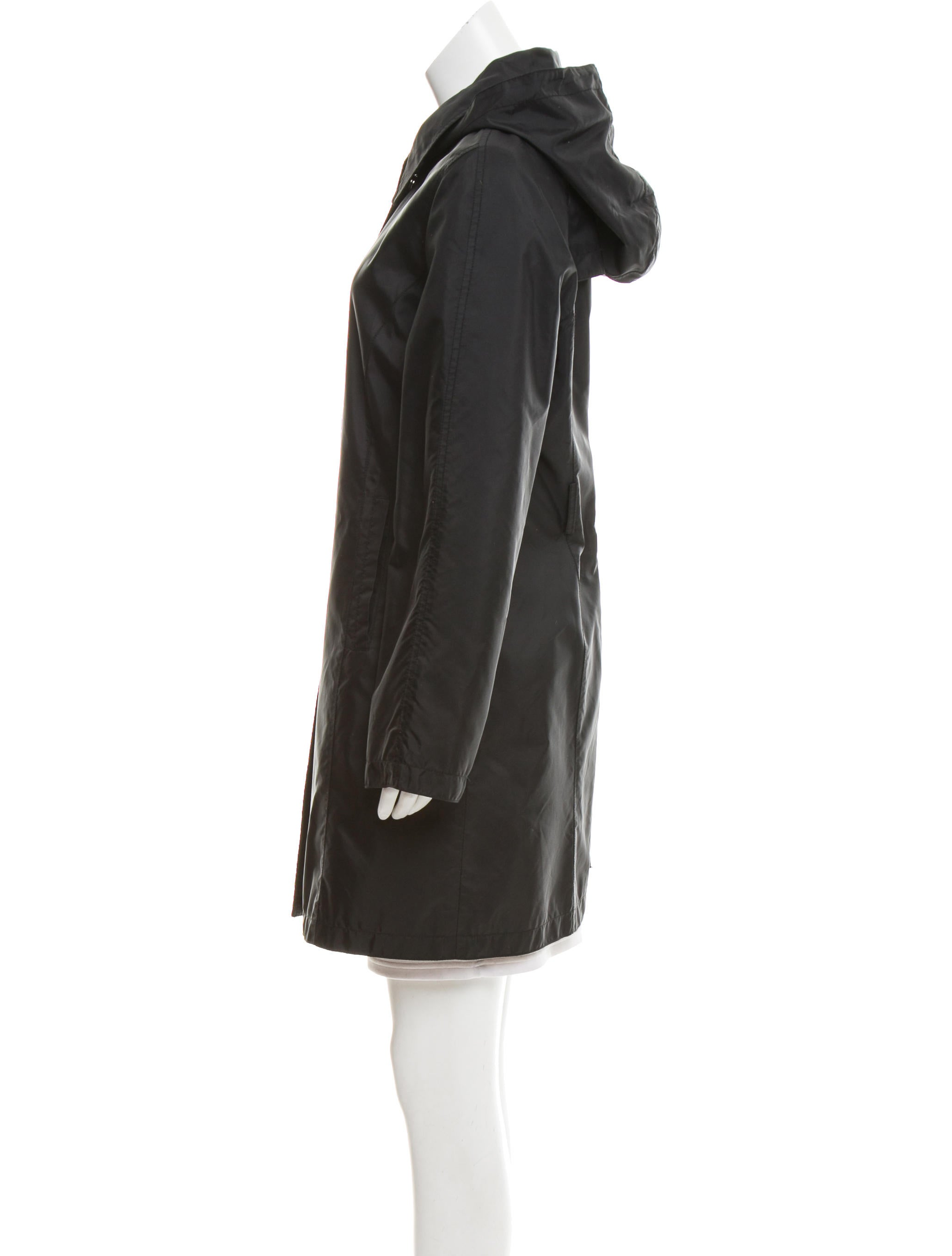 Michael Kors Trench Coat With Detachable Hood And Liner