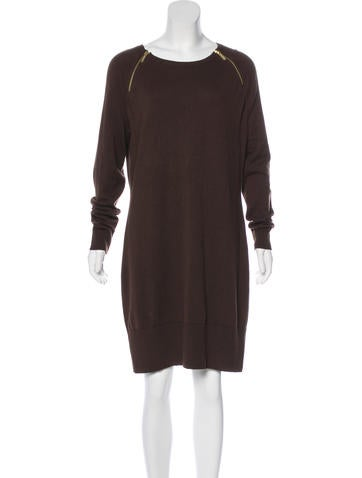 Michael Michael Kors Zip-Accented Knee-Length Dress None