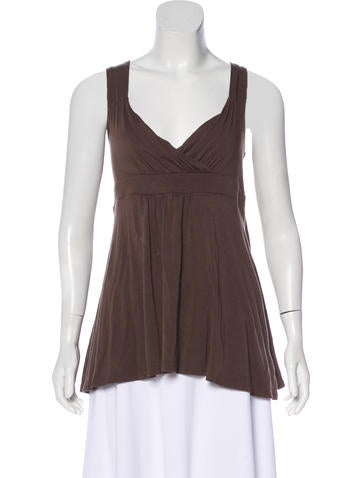 Michael Michael Kors Sleeveless V-Neck Top None