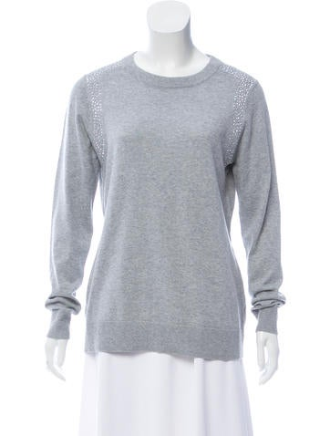 Michael Michael Kors Embellished Knit Sweater None