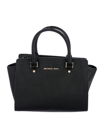 Michael Michael Kors Leather Satchel Bag None