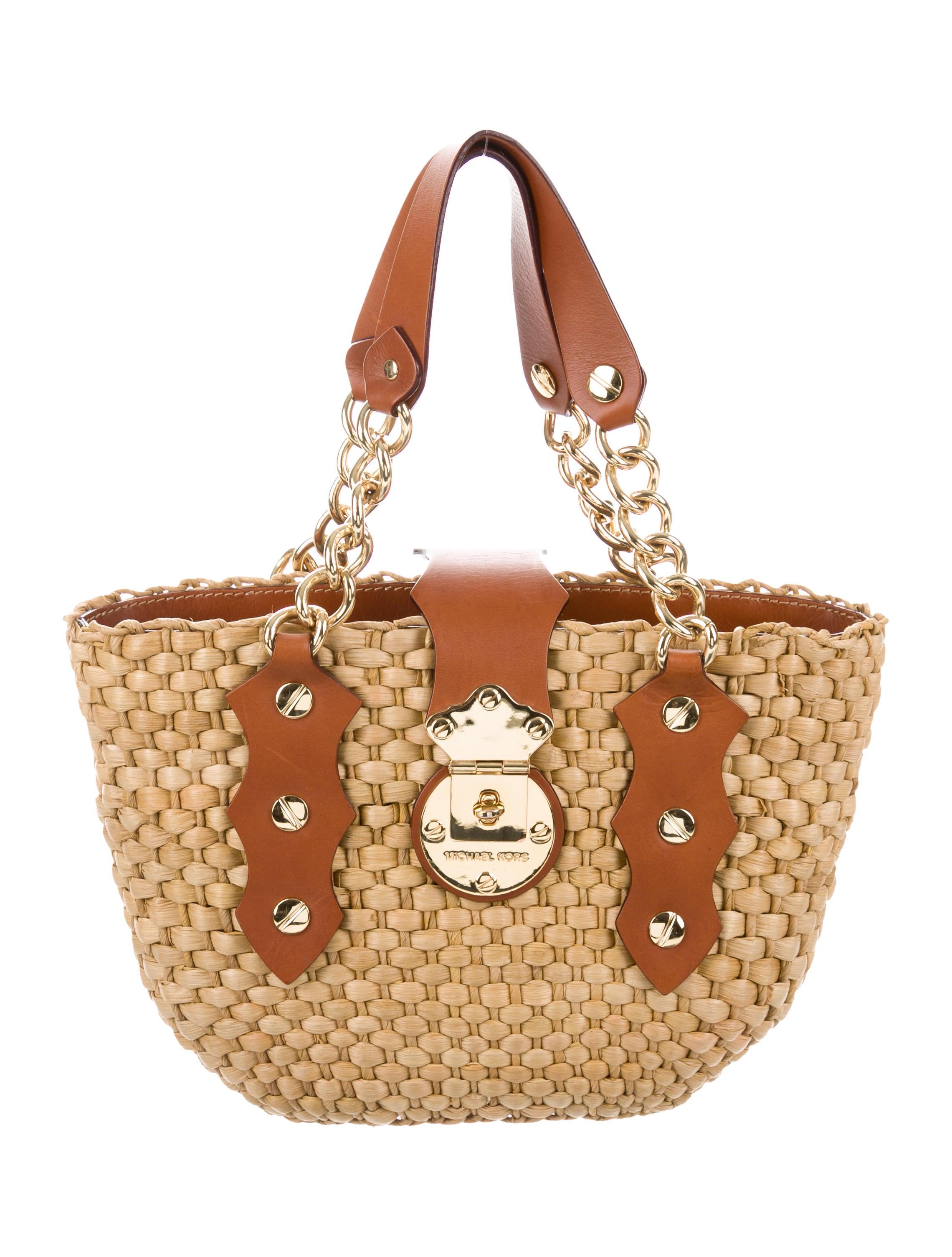 d212eafd0ba349 Michael Michael Kors Santorini Raffia Tote - Handbags - WM529667 ...