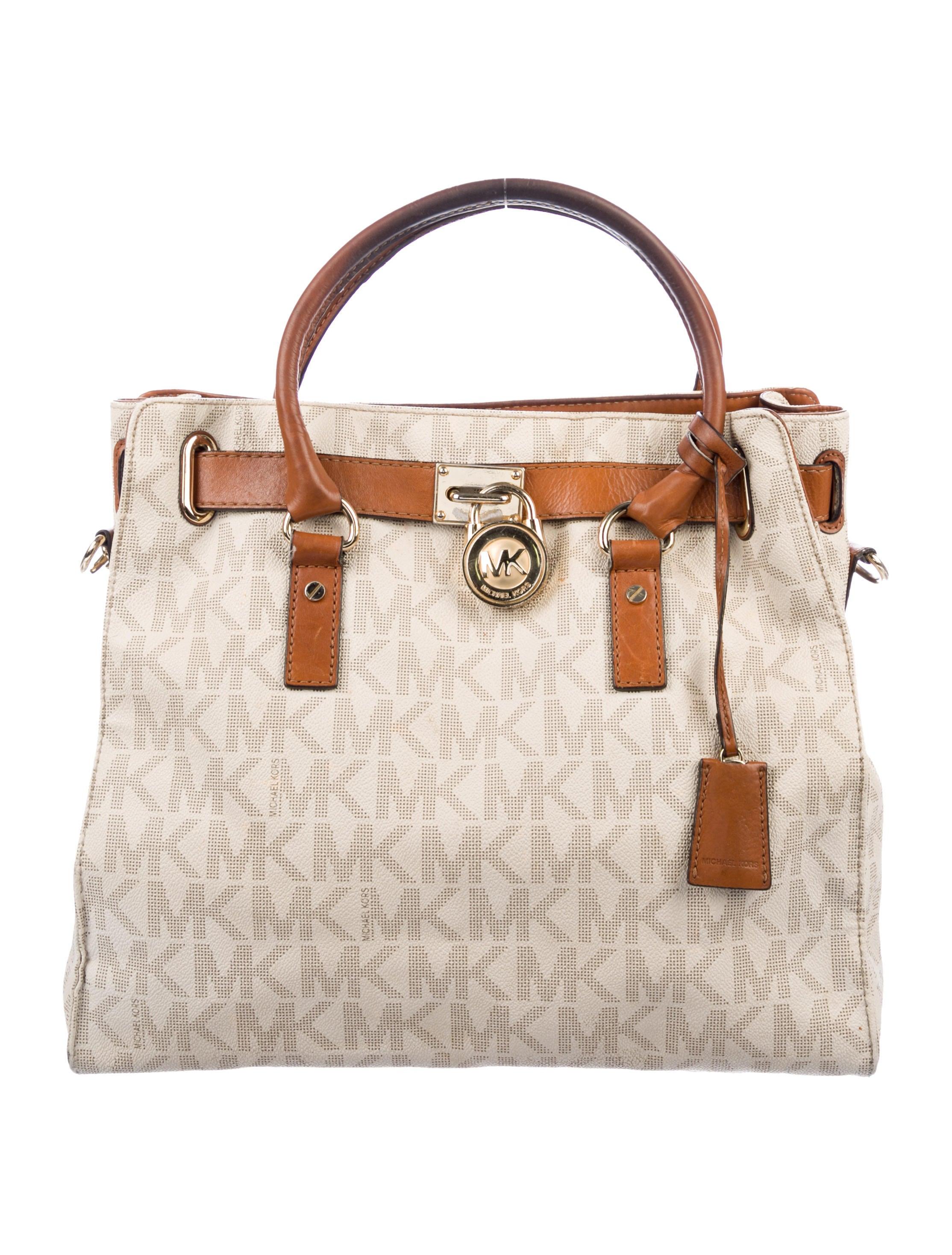 22c8c0045a6505 Michael Michael Kors Large Hamilton Satchel - Handbags - WM531047 ...