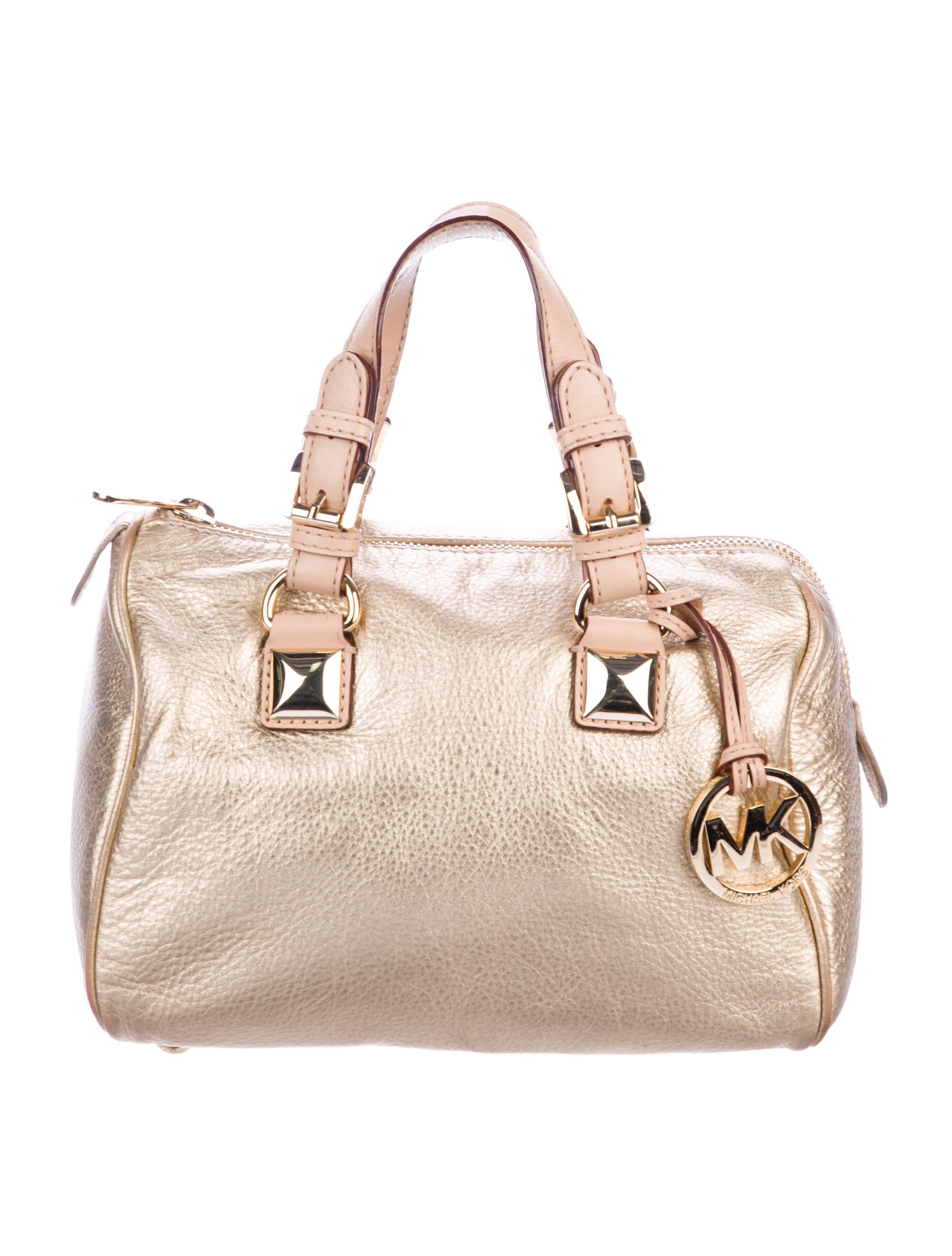 Michael Michael Kors Metallic Leather Handle Bag Handbags
