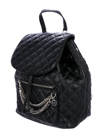 642e4c91c84a Michael Michael Kors Cheyenne Quilted Drawstring Backpack - Handbags -  WM534225   The RealReal