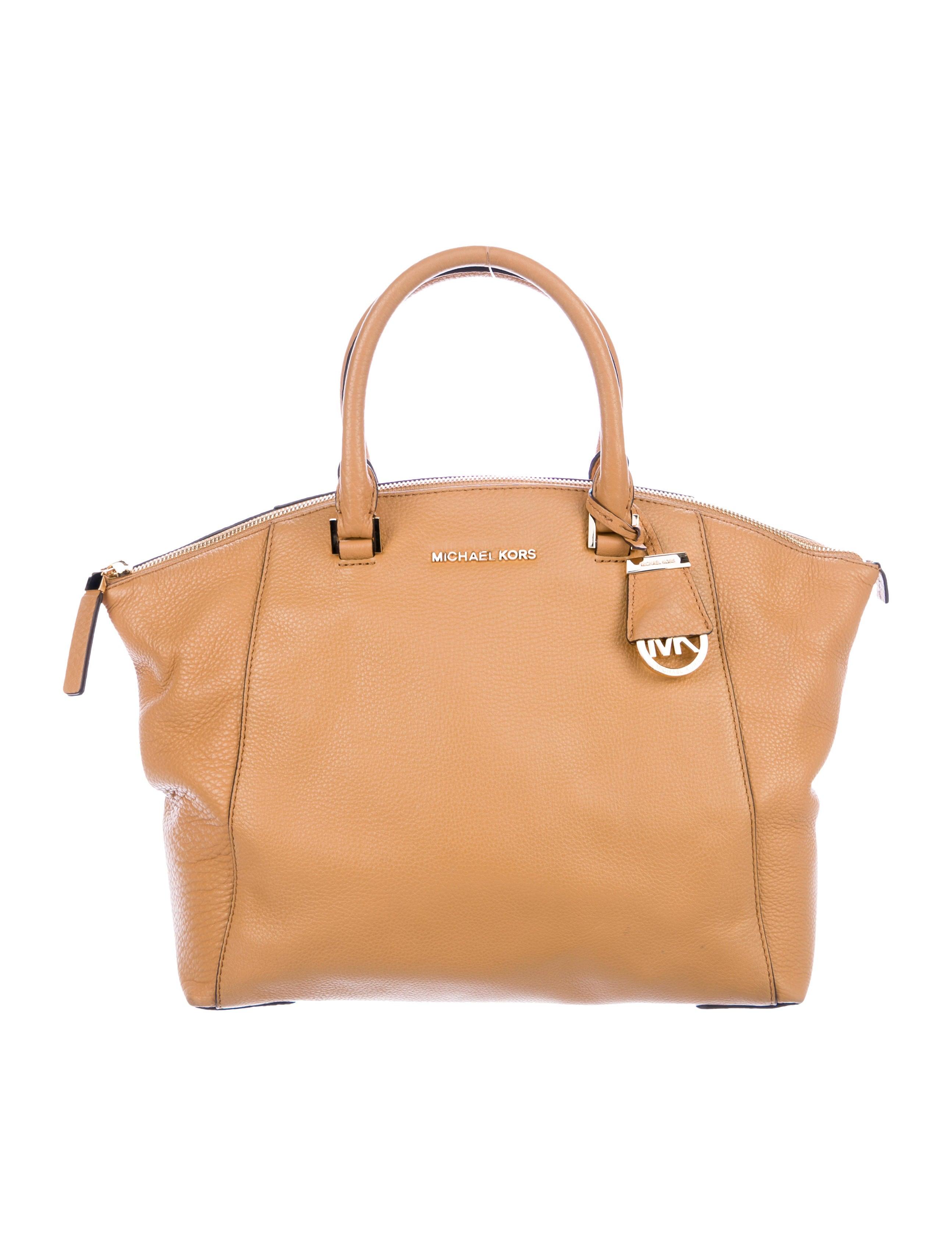 0fa53ff7ae2dbd Michael Michael Kors Grained Leather Satchel - Handbags - WM537432 ...