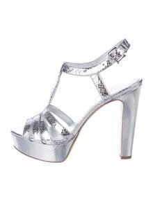 0984dfe1d16024 Michael Michael Kors. Metallic Platform Sandals