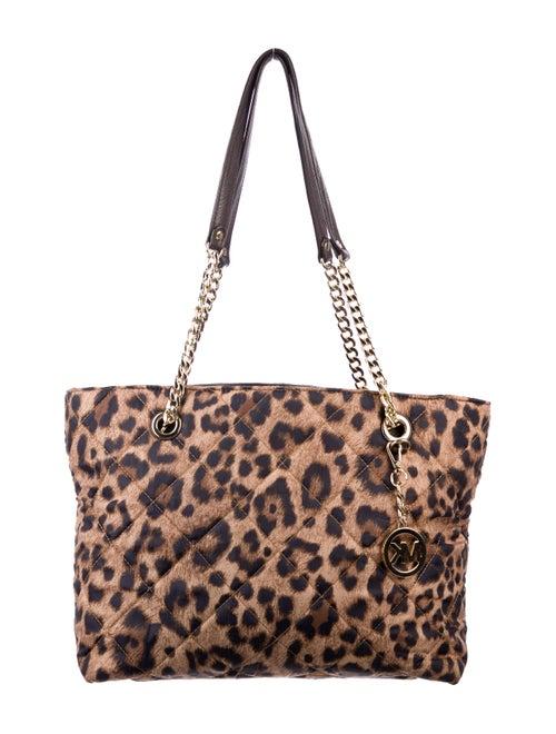 b55ffcfa3b00 Michael Michael Kors Quilted Leopard Print Tote Bag - Handbags ...