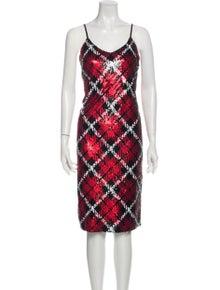 Michael Michael Kors Plaid Print Knee-Length Dress