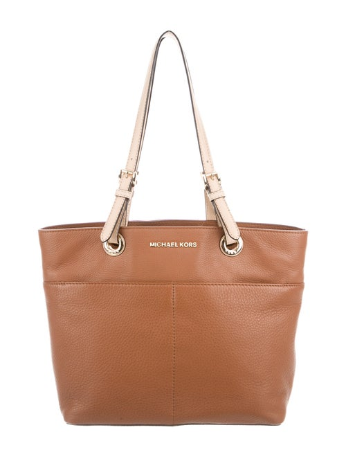 Michael Michael Kors Jet Set Leather Tote Brown
