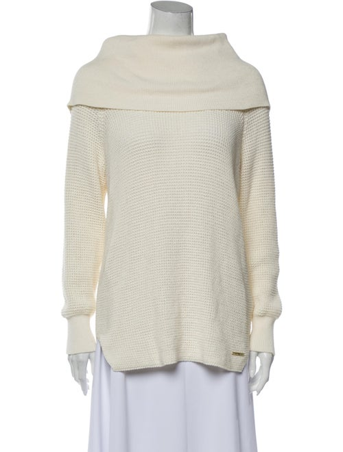 Michael Michael Kors Off-The-Shoulder Sweater Whit