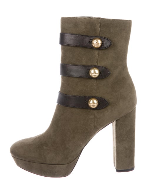 Michael Michael Kors Suede Studded Accents Boots G