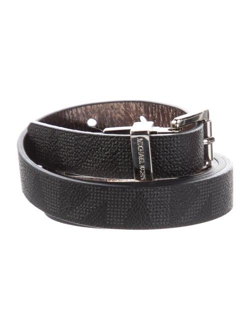 Michael Michael Kors Skinny Leather Belt Black