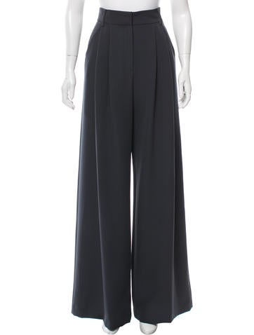 Wide-Leg Cady Pants w/ Tags
