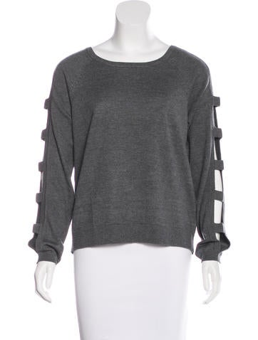 Milly Cutout Knit Sweater w/ Tags None