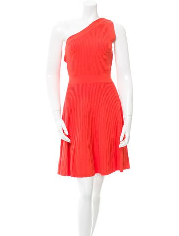 Milly Rib Knit One-Shoulder Dress w/ Tags None