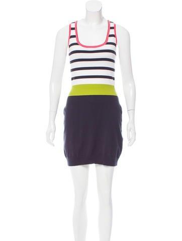 Milly Striped Mini Dress None