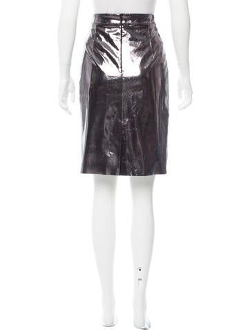 milly metallic leather skirt w tags clothing wm622638