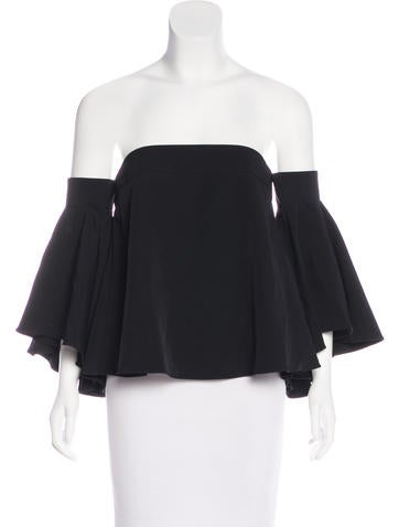 Milly Cropped Off-The-Shoulder Top None