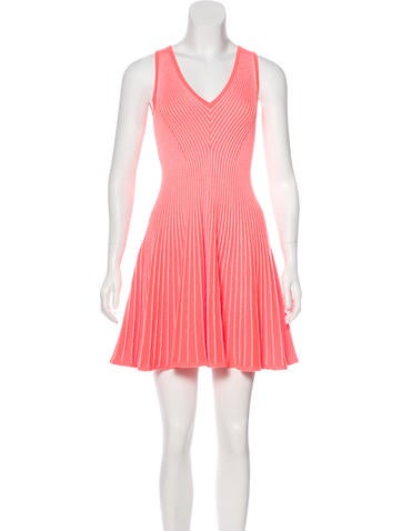 Milly A-Line Knit Dress None