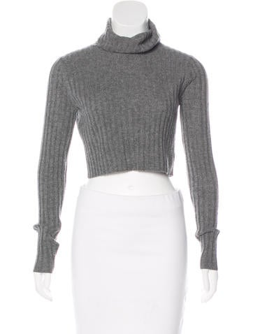 Milly Cashmere Crop Sweater w/ Tags None
