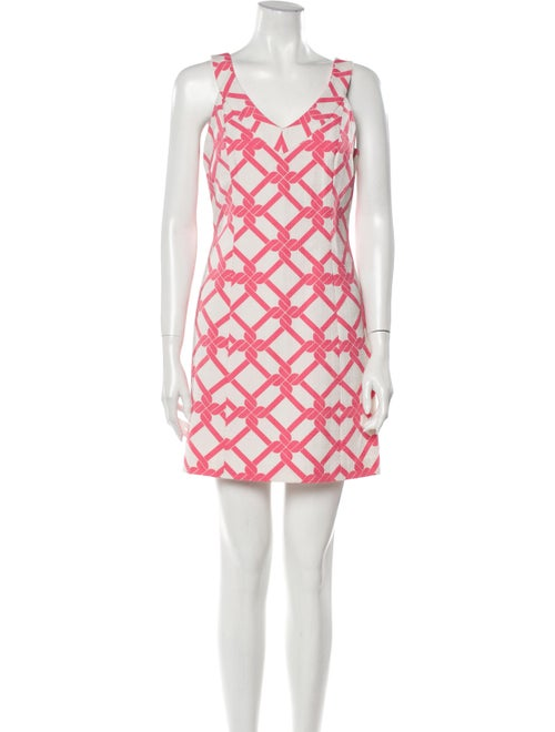 Milly Printed Mini Dress Pink