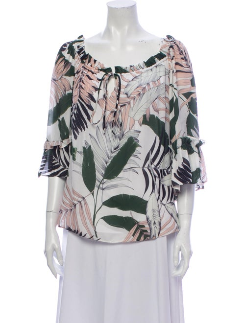 Milly Silk Printed Blouse White