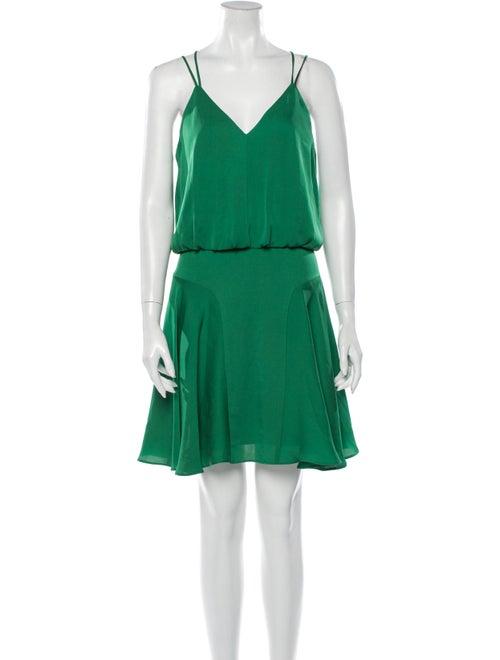 Milly Silk Mini Dress Green