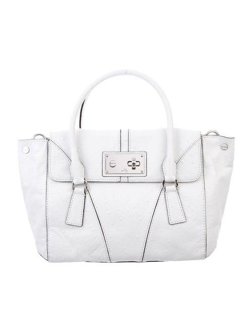 Milly Ostrich Shoulder Bag White