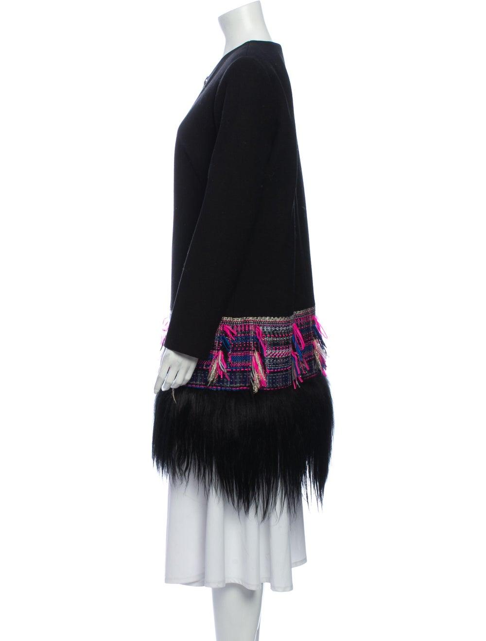 Milly Tweed Pattern Coat Black - image 2