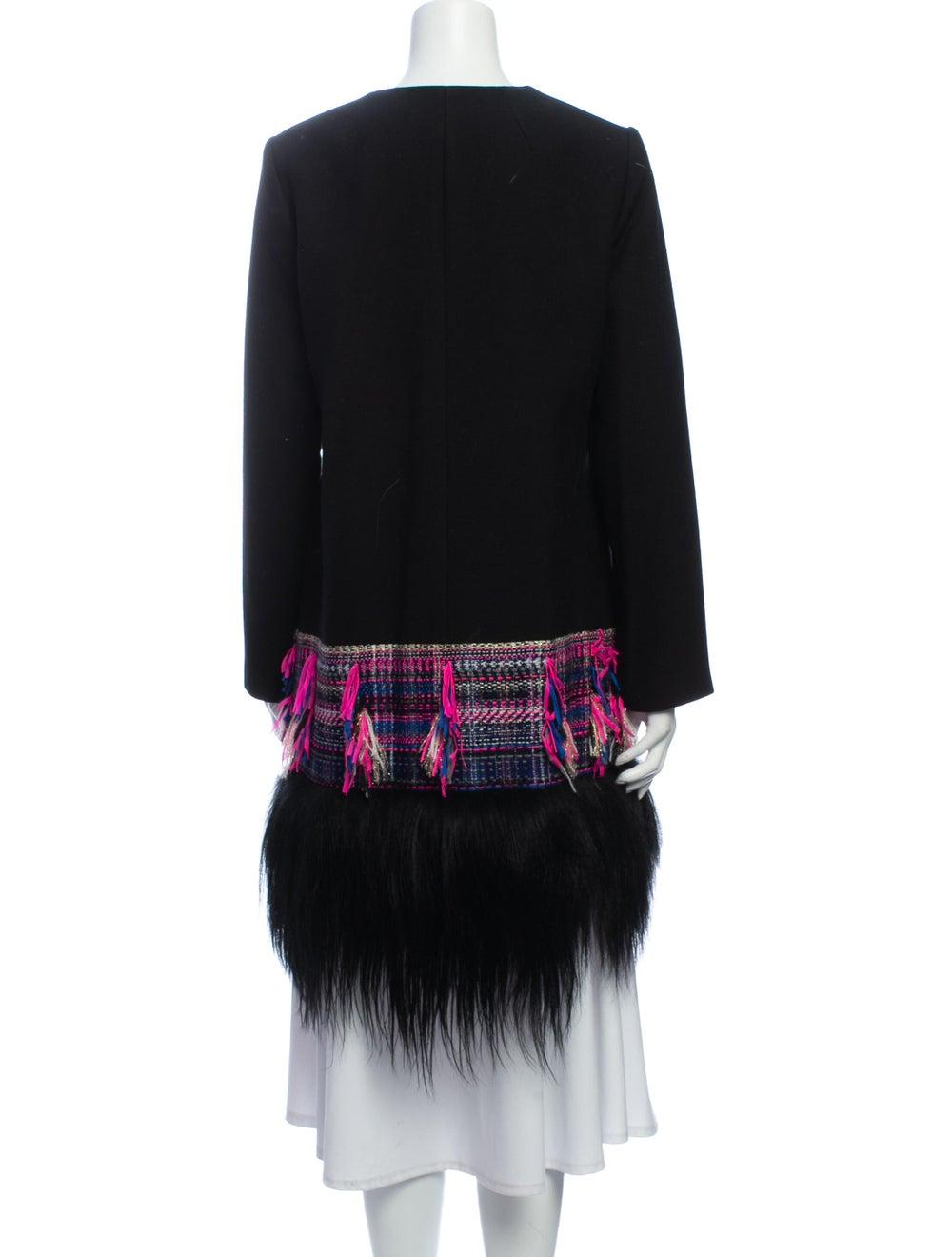 Milly Tweed Pattern Coat Black - image 3