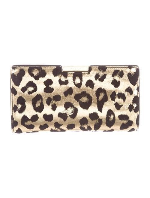 Milly Metallic Animal Print Shoulder Bag Metallic