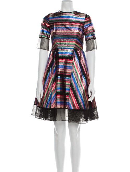 Milly Striped Mini Dress Pink