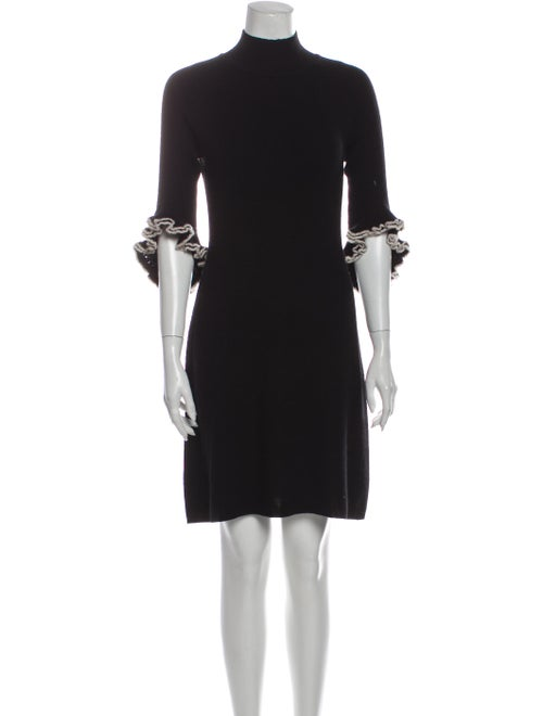 Milly Cashmere Mini Dress Black